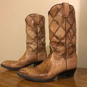 VINTAGE Wrangler Spec Edition Lizard Skin Boots